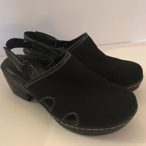 BOC Born Black Canvas Clogs